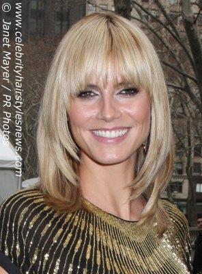 Heidi Klum Victoria Beckham Face Framing Hairstyle And